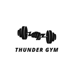 thunder gym concept good for fitness center loogo vector image