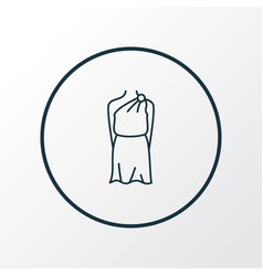 tunic icon line symbol premium quality isolated vector image