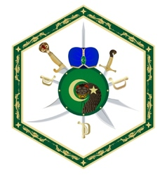 Turban a shield and a sword vector
