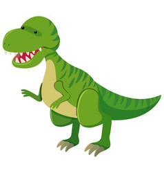 tyrannosaurus rex with sharp teeth vector image