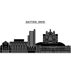 Usa dayton ohio architecture city skyline vector