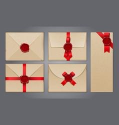 wafer envelopes postcard collection vector image