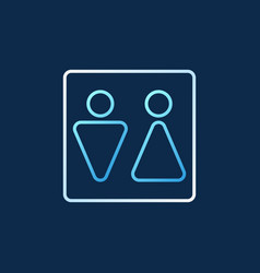 woman and man toilet linear colored icon vector image