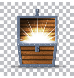 wooden chest vector image