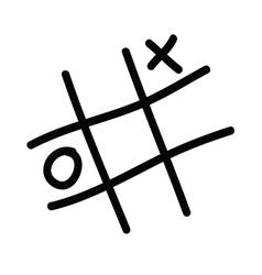x o icon vector image