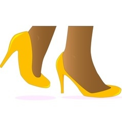 Yellow Shoes vector
