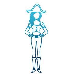 beautiful woman pirate cartoon vector image