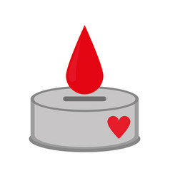 campaing donation blood drop vector image vector image