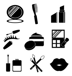 Make up design over white background vector image vector image