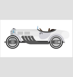 old sport car or vintage retro racing collector vector image vector image