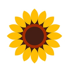 Sunflower - flower icon vector image