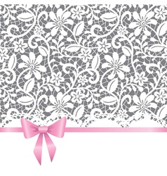wedding card with bow vector image vector image