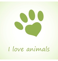 Animal foot print in eco style vector image vector image