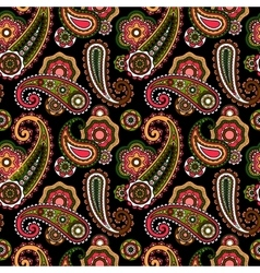 Arabic pattern with paisley vector image