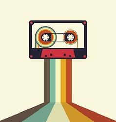 Cassette retro vintage style vector image