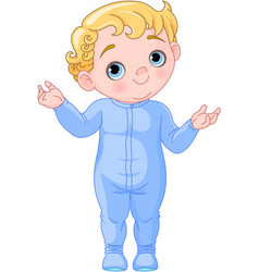 cute creeping baby vector image vector image