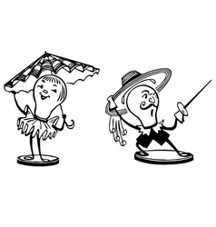 funny lamps vector image vector image