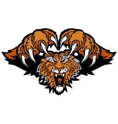 Tiger Mascot Pouncing Graphic vector image vector image