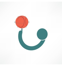 basketball player icon vector image vector image