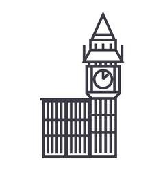 big ben london line icon sign vector image