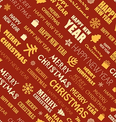 Christmas season elements seamless background vector image