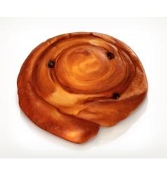 Danish pastry bakery icon vector