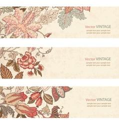 Vintage Floral banner set vector image vector image