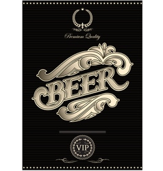 black template for the cover of beer menu vector image vector image