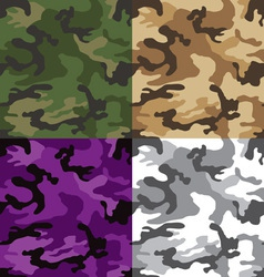 camouflage multi seamless pattern vector image vector image