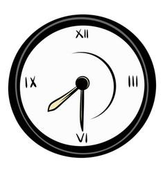 clock icon cartoon vector image vector image