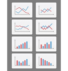 Graphs and Charts vector image vector image