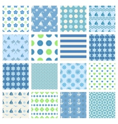 marine seamless patterns vector image vector image