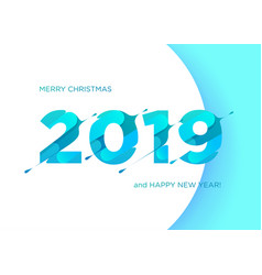 2019 numbers happy new year vector image