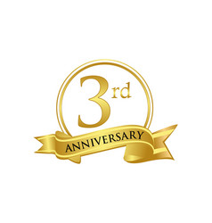 3rd anniversary celebration logo vector image
