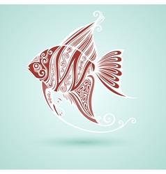 Abstract Sea Fish vector image