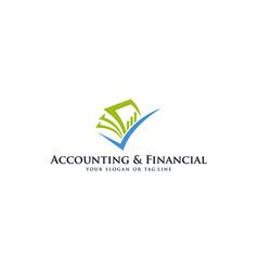 Accounting and financial logo vector