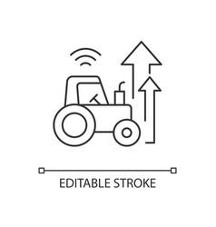 Agricultural modernization linear icon vector
