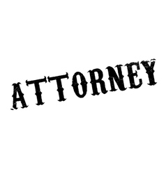 Attorney rubber stamp vector