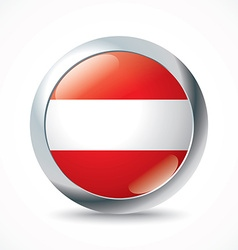 Austria flag button vector image