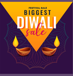 Awesome diwali sale banner design vector