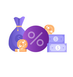 Banking deposit money saving icon in flat design vector