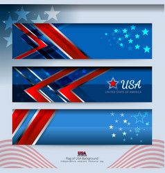 Banner american design vector