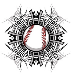 Baseball softball tribal graphic image vector