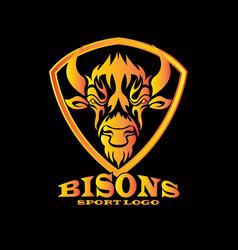 bisons vector image