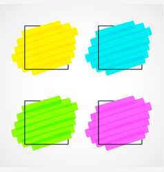 black frame and realistic highlight scribble set vector image
