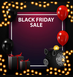 black friday sale square template for your arts vector image