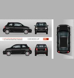Black mini car vector