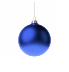 Blue 3d christmas Bauble vector