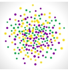 Bright abstract dot mardi gras pattern vector image