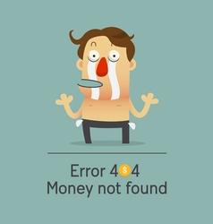 Broken businessman no money showing empty pocket vector